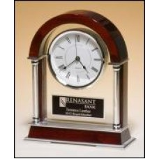 BC879 Mantle Clock with Chrome Accents